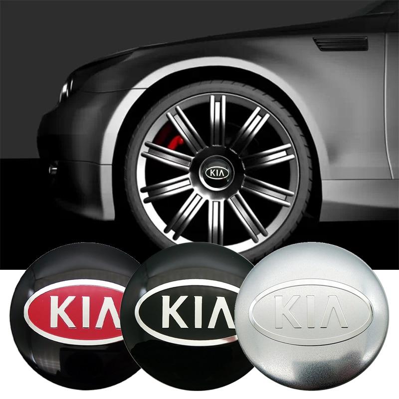 4pcs 56.5mm 65mm Car Wheel Center Cover Hub Cap Resin Badge Emblem Sticker For KIA Sportage Sorento Cerato Ceed Soul Rio 3 4