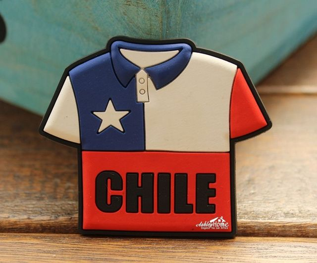CHILE World Cup Soccer Jersey Tourist Travel Souvenir Rubber Fridge Magnet  Funny GIFT IDEA 6f450272d