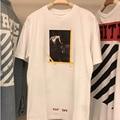 Off Белая Футболка Kanye West Hipster Мужская Повседневная 1:1 высокое Качество Джастин Бибер Футболка Религия Иисус Футболку Белый футболка