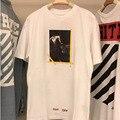 Off White Camiseta Kanye West Hipster Mens Casual 1:1 alta Calidad Justin Bieber Camiseta Religión Jesús Camiseta Blanca camiseta