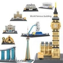 цены на New World famous architectural Streetview Creator Architecture fit city Building Blocks Bricks Toys For Children  gift  в интернет-магазинах