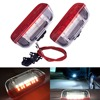 2PC Car LED Door Warning Light welcome Projector For VW Passat B6 B7 CC Golf 6 7 Jetta MK5 MK6 Tiguan Scirocco With Harness
