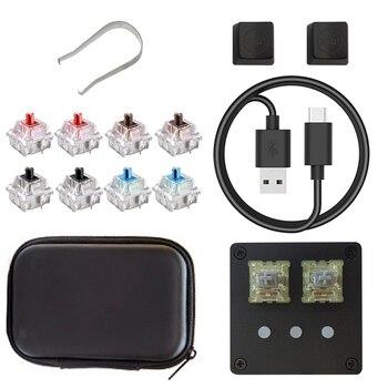 DIY  USB 2.0 Backlit Cherry Mechanical Keyboard With Software Black OSU Keyboard V4 For Windows 5 Key Gaming Keyboard