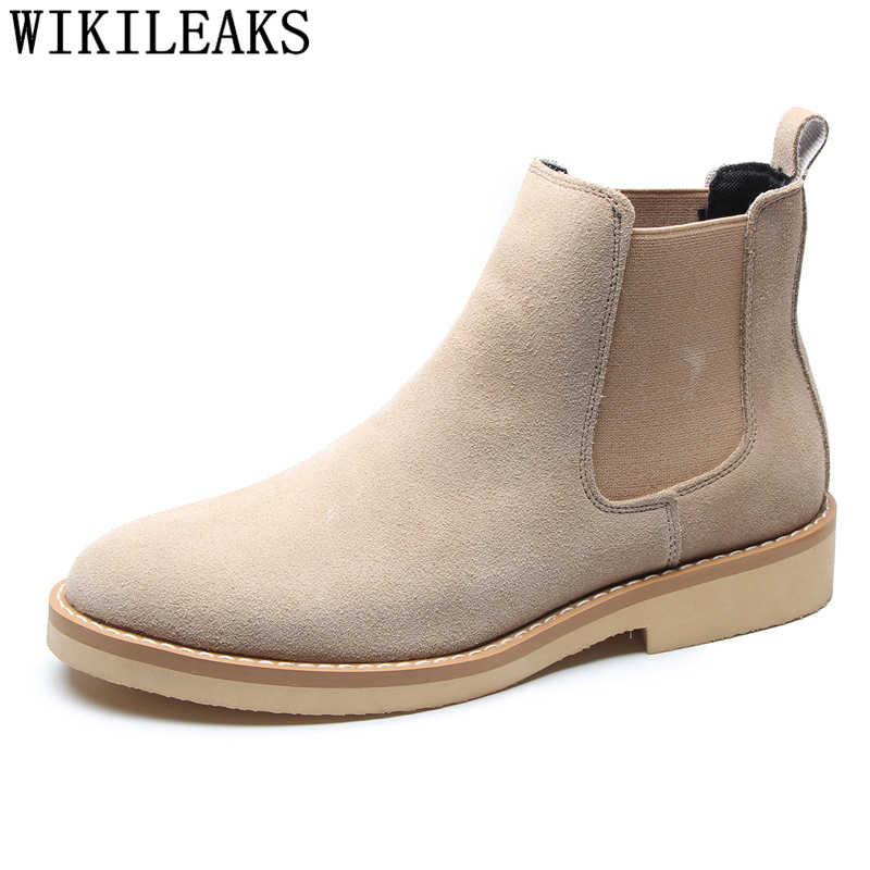 chelsea boots men ankle boots men leather dr leather casual boots men zapatos mujer 2019 botas tacticas hombre zapatos seguridad