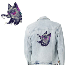 Cartoon Dagger Wolf Patches Heat Transfer Patch DIY T-Shirt Backpack Jacket Animals Ironing Sticker Washable