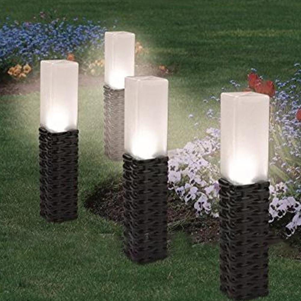 New LED Bollard Lawn Light For Landscape Garden Yard Square Outdoor Lighting 43cm Led Road Path Decorative Lighting Lawn Lamp