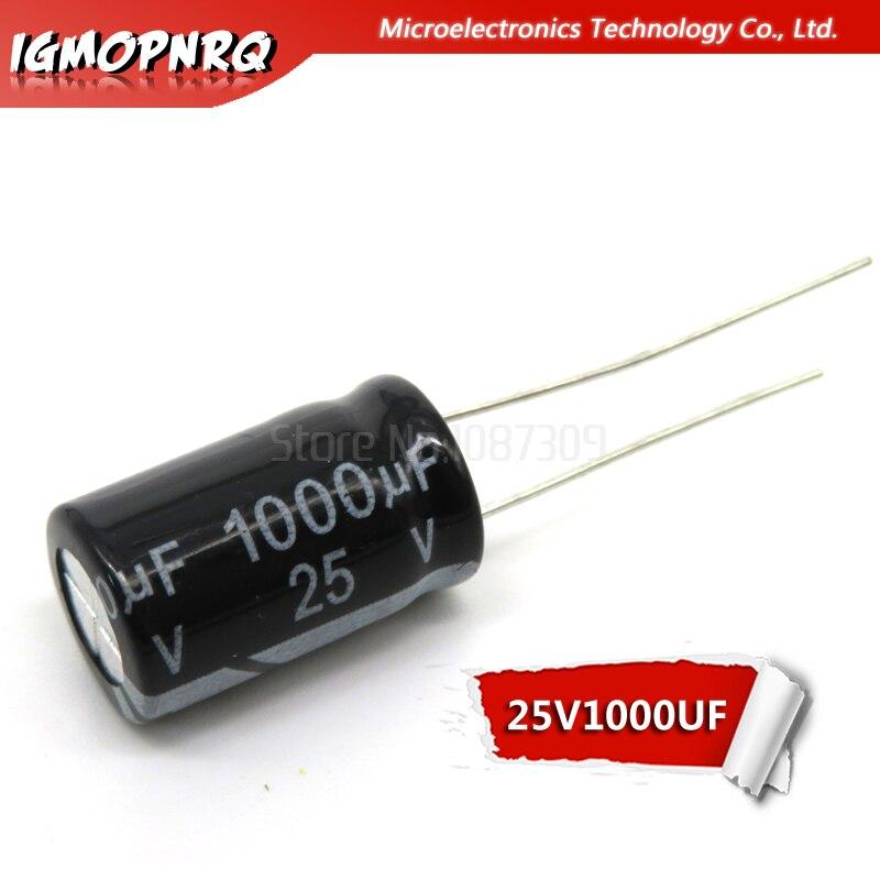 20PCS 25V1000UF 10*17mm 1000UF 25V 10x17mm Aluminum Electrolytic Capacitors DIP