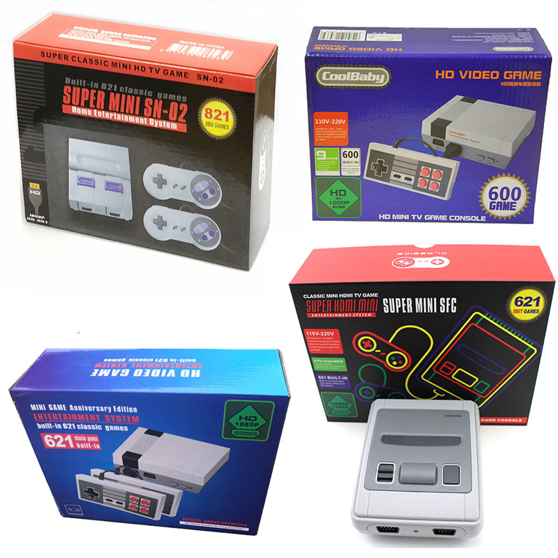 Nouvelle Mini 600 621 821 Console de jeux sur tv Vidéo De Poche pour NES jeux consoles sortie hdmi offre spéciale Rétro Jeu Console