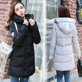 New Fashion Thicken down coat fake Fur Collar Warm Coat Woman Long Outerwear down jacket winter warm overcoat padded cotton coat