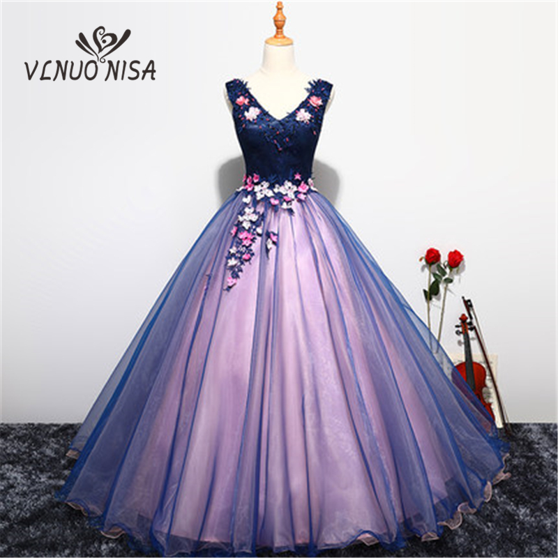 2018 New Arrival Vintage Floor-Length Evening Dress Classic Appliques Pearls Sleeveless Elegant Gown Embroidry Prom Formal Party