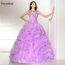 Favordear 2019 Nova Plissado Longo Partido Vestidos sparkly beading Colher/Strapless Vestido De 15 Anos De Cap Vestido Quinceanera