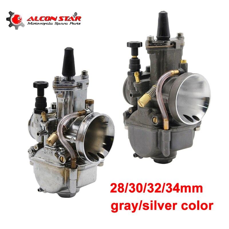Alconstar- 28 30 32 34mm Motorcycle PWK OKO Carburetor Carburador Carb Racing With Power Jet Motorcycle Part 4T Engine