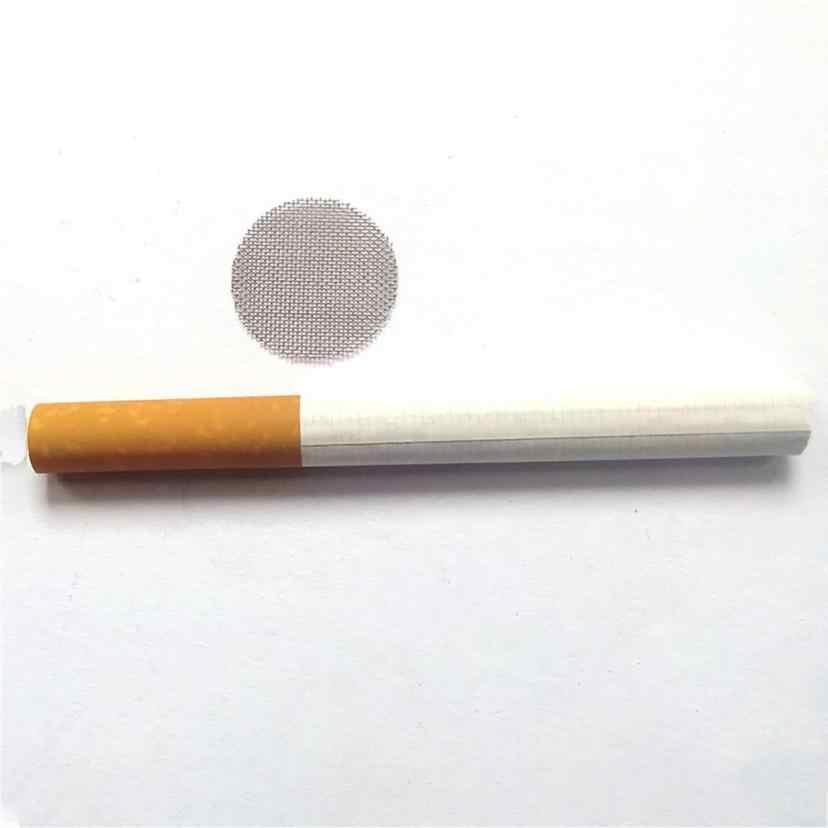 Tubo de água multifuncional, tubo de água inoxidável para fumar, acessórios para fumar, cachimbo, maconha, tela de gaze, 100 peças