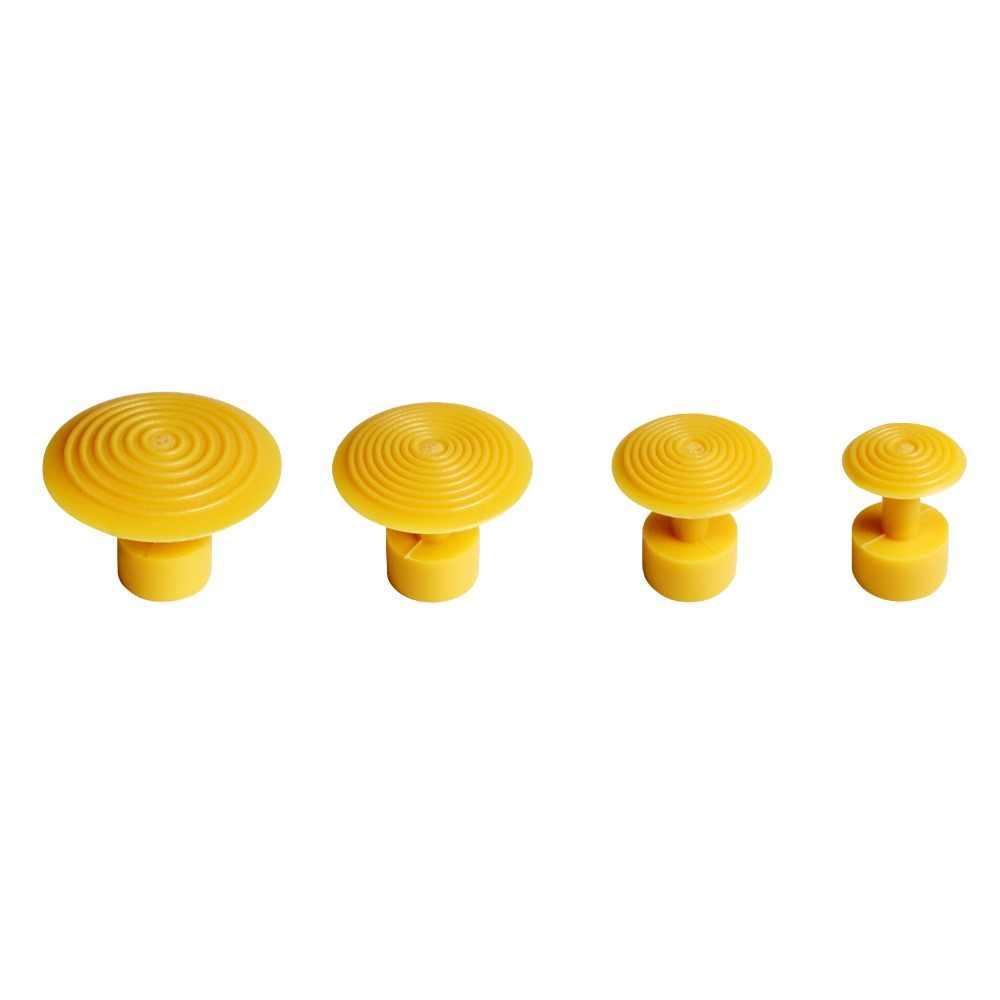 Супер PDR инструменты, безболезненный Набор для ремонта вмятин, 4 шт., желтые пластмассовые клеевые вкладки, автомобильные вмятенные присоски для PDR Dent Pullers Ferramentas