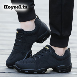 Image 3 - HoYeeLin Mesh Jazz Shoes Mens Modern Soft Outsole Dance Sneakers Breathable Dancing Fitness Training Shoes