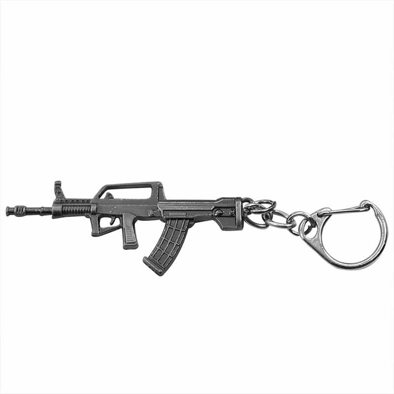 Simulation Weapon Model Keychain Male Mini M4A1 AK47 Gun Key Chain Car Keyring AWP Rifle Sniper Cool Mens Jewelry Dropshipping