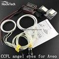 HochiTech ccfl angel eyes kit white 6000k ccfl halo rings headlight for Chevrolet Sonic T300 2011 2012 2013 2014 2015