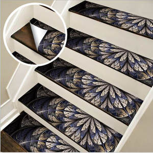 6Pcs Mosaic Tile Wall Stairs Stickers Self Adhesive Waterproof PVC Wall Sticker Kitchen Ceramic Stickers Home Decoration
