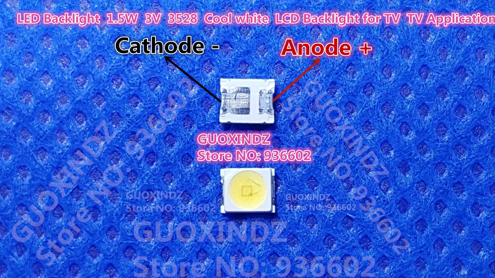 OSRAM   LED Backlight  1.5W  3V   1210 3528 2835  131LM  Cool white  For  LED LCD Backlight TV Application  LED LCD TV Backlight(China)