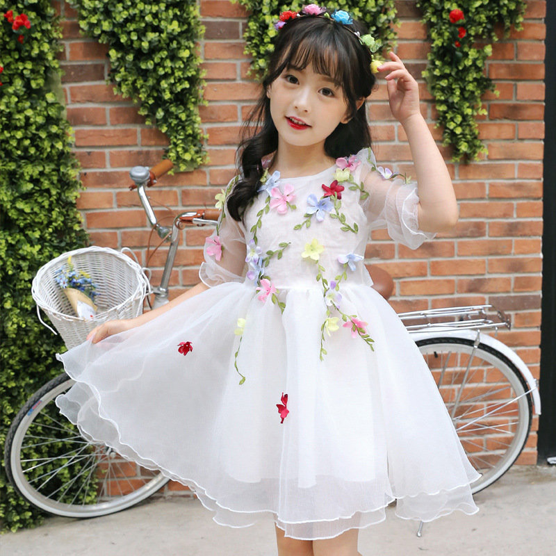 Party Girls Dress Princess Style Flower Dresses For Girls Infant Birthday Wedding Children Clothing New Design Kids Clothes купить дешево онлайн