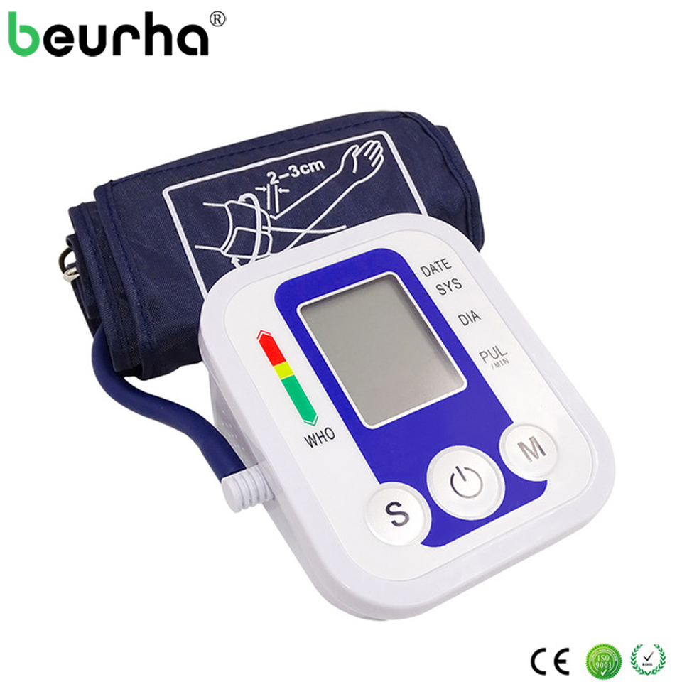 Gesundheitsversorgung Beurha Digitale Oberen Arm Hohe Blutdruck Symptome Messung Puls Monitor Tragbare Monitore Tonometer Meter Blutdruckmessgerät Die Neueste Mode