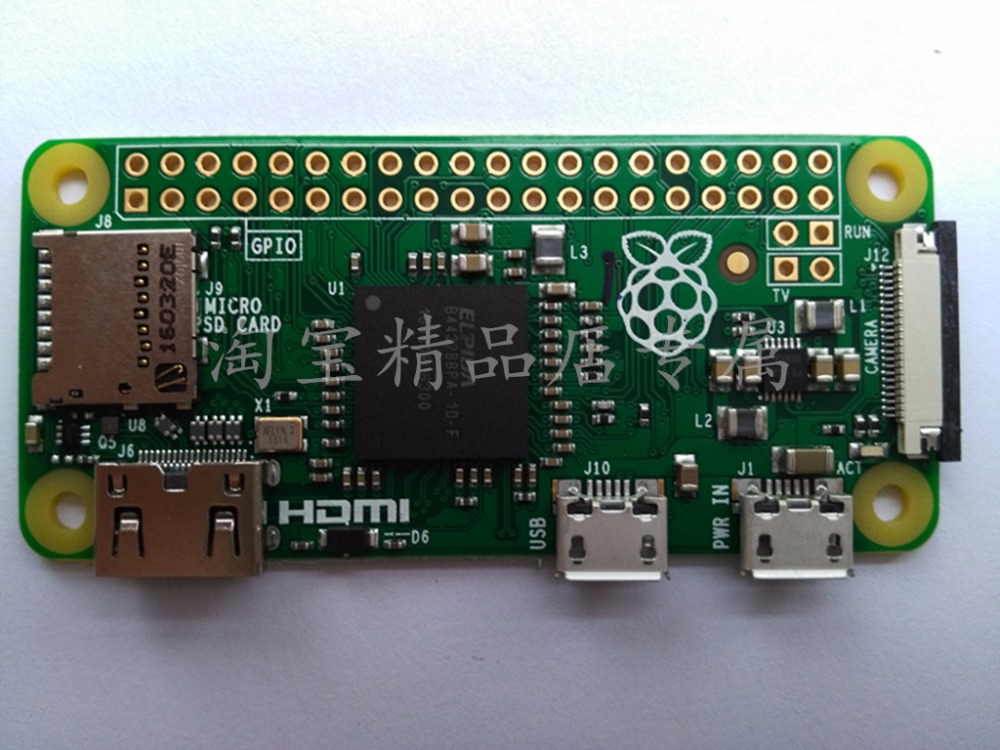 Free Shipping High Quality Only  Raspberry Pi Zero V1.3 With 1GHz CPU 512MB RAM Linux OS 1080P HD Video Output