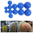 New Hot 12 Pcs Mini Healthy Cupping Silicone Vacuum Cup Chinese Traditional Medical Cupping Glass Cups