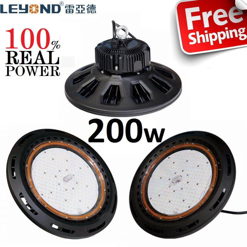 LEYOND Free Ship Industrial 200W LED UFO High Bay Light 5 Years Warranty Warehouse Grocery Store Factory Workshop(China)