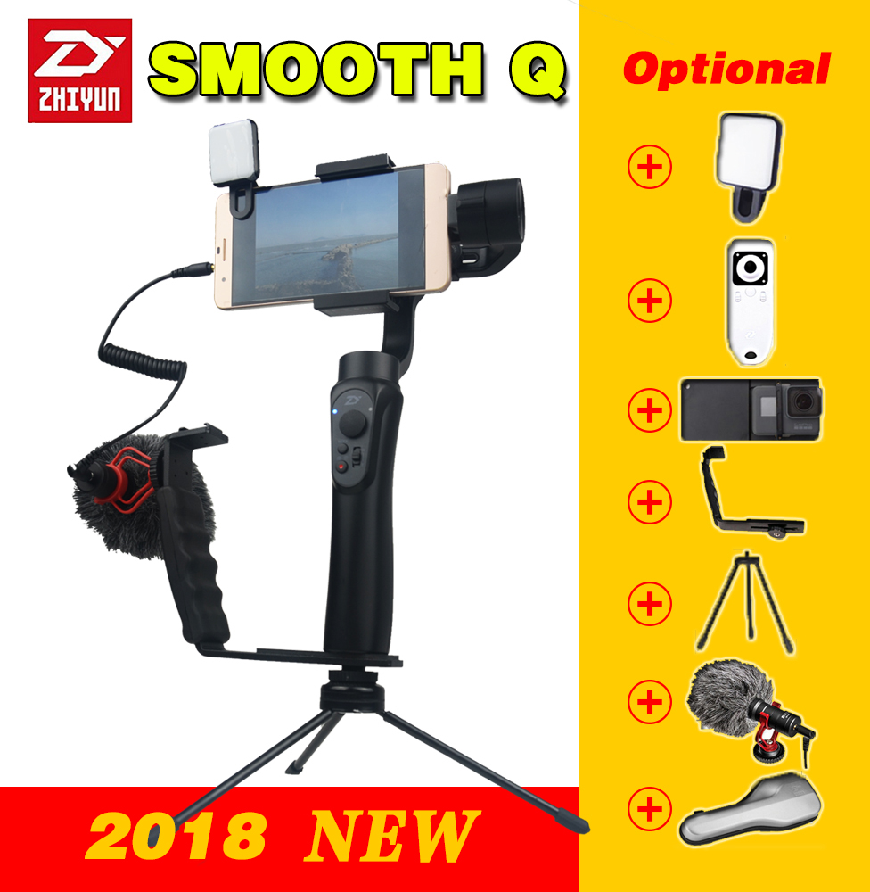 Zhiyun smooth q Handheld 3 Axis phone gimbals Stabilizer for action camera font b Smartphone b