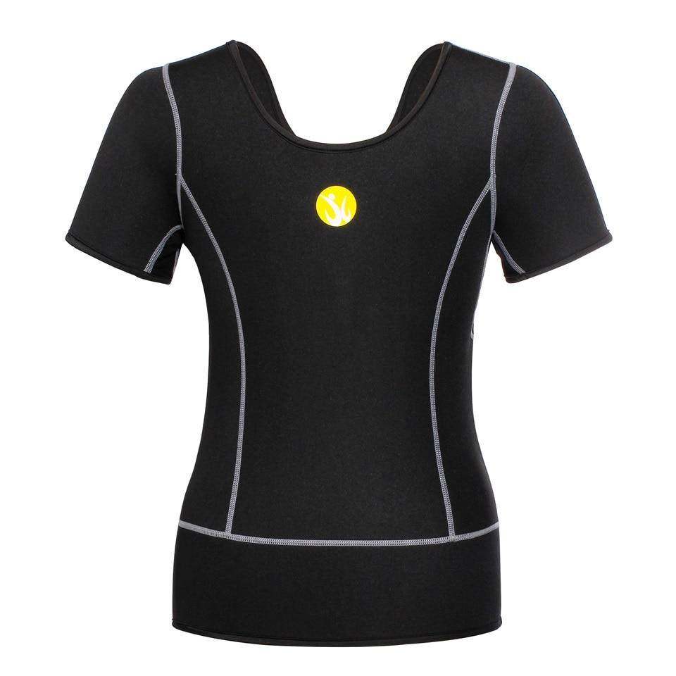07fcaa8dc0c1e Junlan النساء الجسم مشد النيوبرين التخسيس تي شيرت قميص ساونا الإناث ...