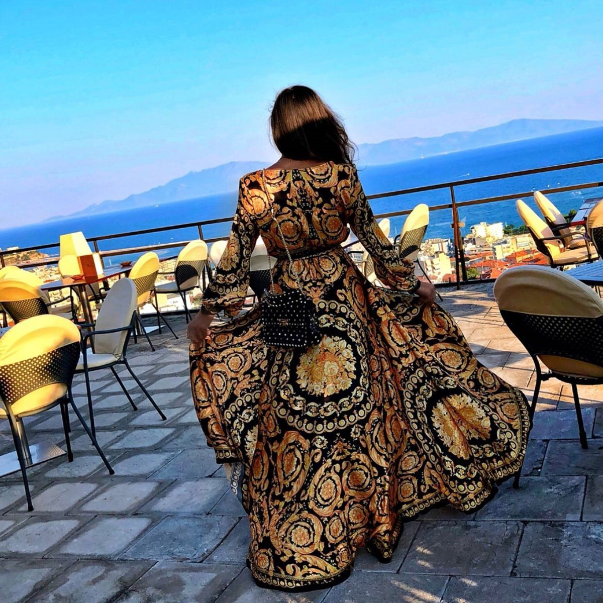 Sexy Women Floral Print Spring Boho Dresses 2019 New Long Sleeve V Neck Long Dress Party Beach Holiday Club Dresses Sundress