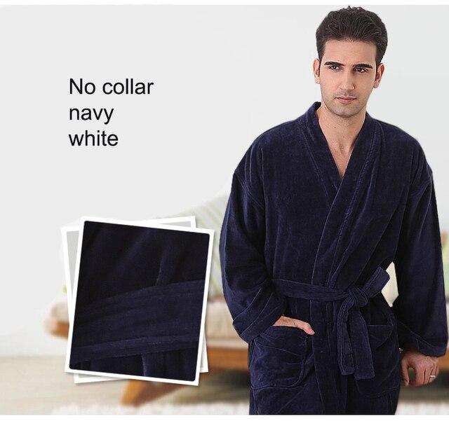 none collar man very big plus size terry cotton no collor bathrobe