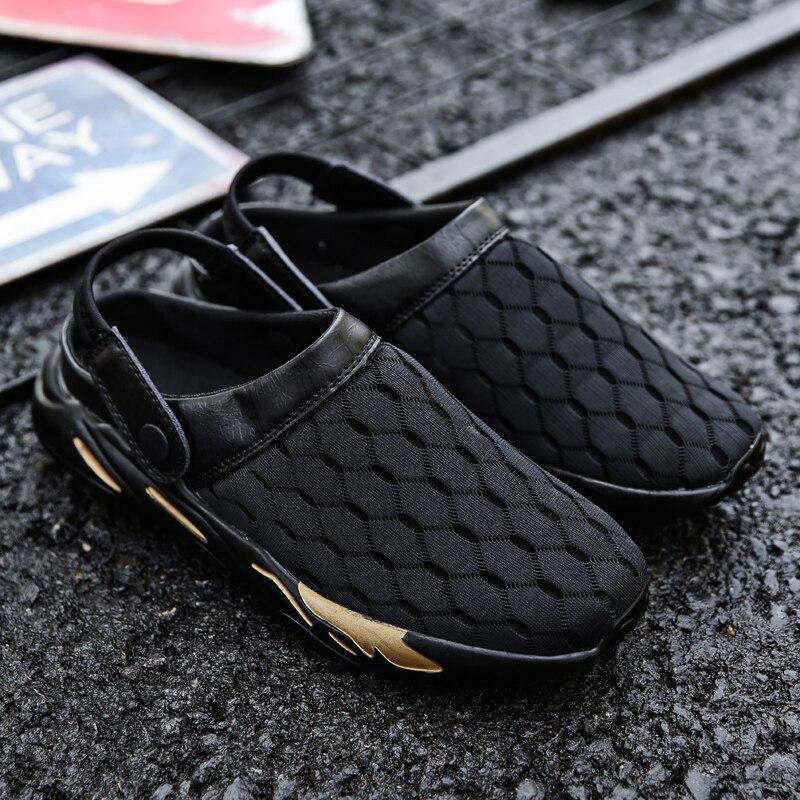 Conduite Respirant Cuir De black Gold Pois Confortable Ajustement Sandales white Voiture En Chaussures rdxQCWeBo