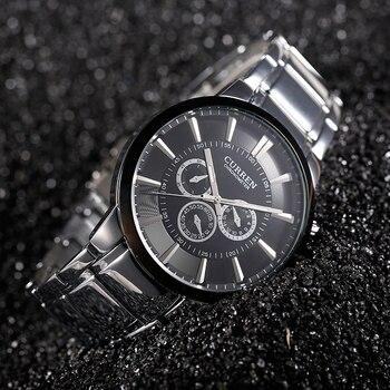יוקרה למעלה מותג CURREN קוורץ שורש כף יד שעונים פלדה מלאה בסגנון קלאסי פשוט שעון של גברים עמיד למים זכר שעון ספורט-בשעוני קווארץ מתוך שעונים באתר