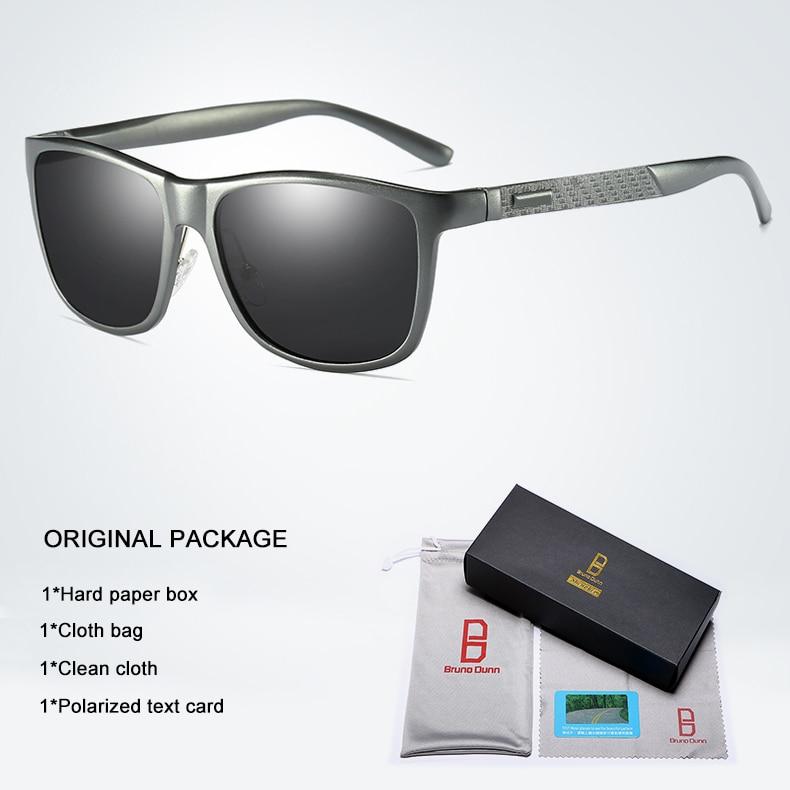 Bruno dunn Sunglasses Men Polarized 2020 Luxury Brand square metal frame male sun glasses oculos de sol masculino 2140 ray uv400 13