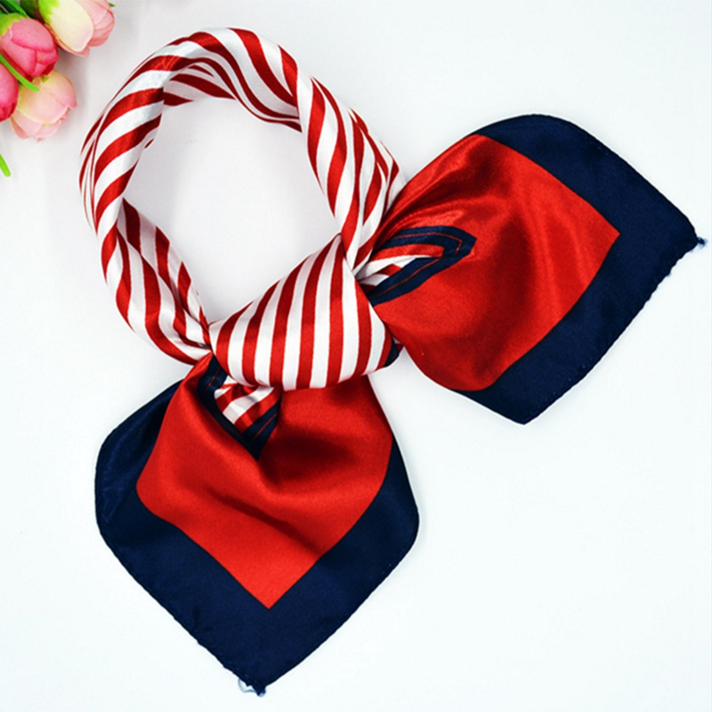 2019 Women Small Silk   Scarves   Square Lady Hair Neck   Scarf     Wrap   Office Handkerchief Foulard 50*50cm