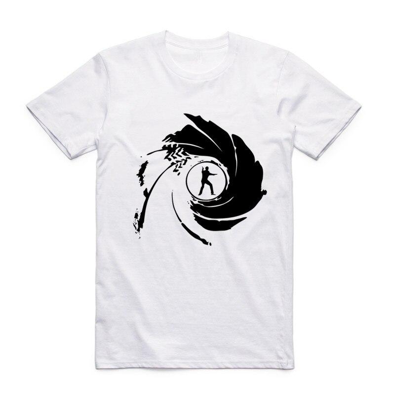 Moda para hombres Película de cine Película James Bond 007 Camiseta - Ropa de hombre - foto 3