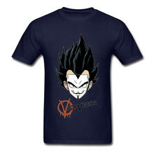 V for Vegeta Round Neck T Shirts Father Day Tops & Tees Short Math Cute Satan Fabric Europe Tee Shirt Normal Youth