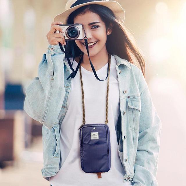 Multifunctional Travel Passport Holder Outdoor mini picnic bag Travel Journey Document Organizer Bag Hiking Accessories