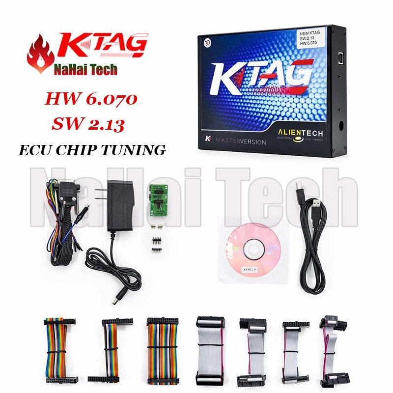 Prix pour 2017 KTAG 6.070 (HW: V6.070 SW: V2.13) Ensemble complet OBD2 ECU Chip Tuning De Diagnostic-outil Illimité Jeton K-TAG 6.070 diagnostic auto