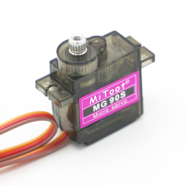 10pcs/lot Mitoot MG90S Metal gear Digital 9g Servo SG90 For Rc Helicopter pPlane Boat Car MG90 9G