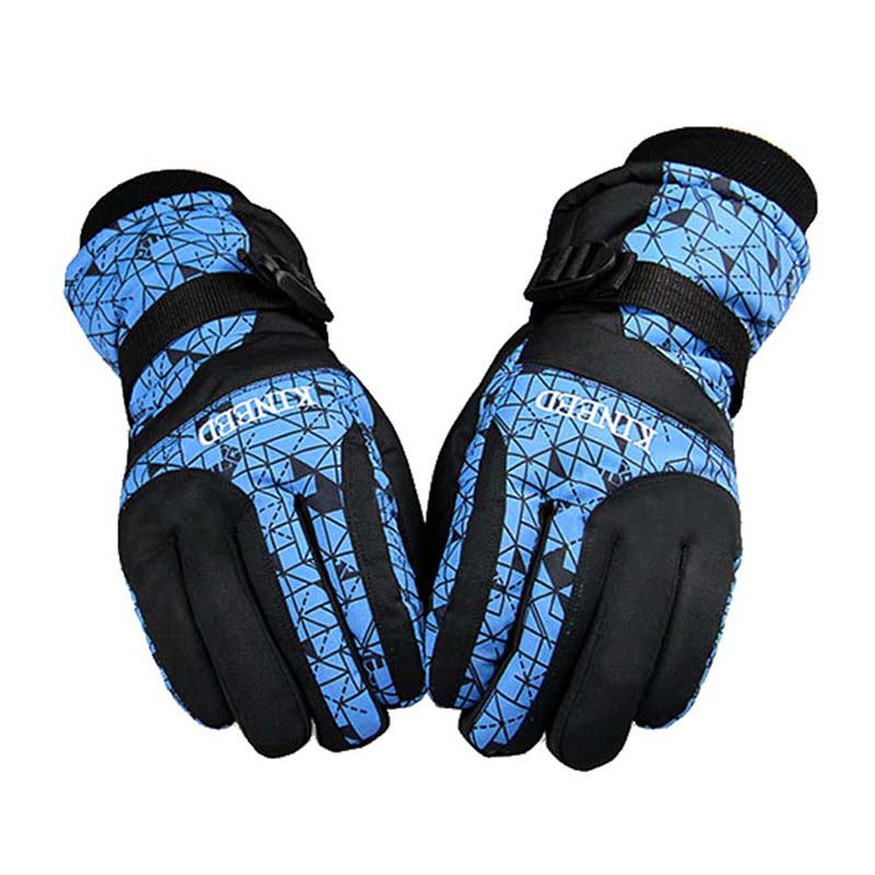New Windproof Cool Winter Waterproof Anti-skid Cycling Gloves Mountain Snowmobile Motorcycle Gloves Skiing Gloves