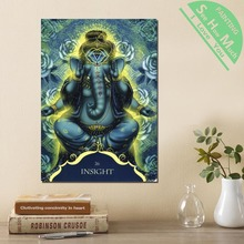 дешево!  1 Шт. Ганеша Insight Word Blue HD Печатные Холст Wall Art Плакаты и Принты Плакат Живопись  Лучший!