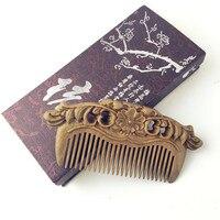 1 PC Handmade Green Sandalwood Anti Alopecia Wood Comb Natural Head Massage Hair Brush Hair Care