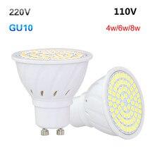 AmmToo Brand GU10 2835 5733 SMD LED Corn Spolight Bulb 4W 6W 8W  GU 10   Led Lamp For Home Chandelier Spotlight  AC 220V 110V