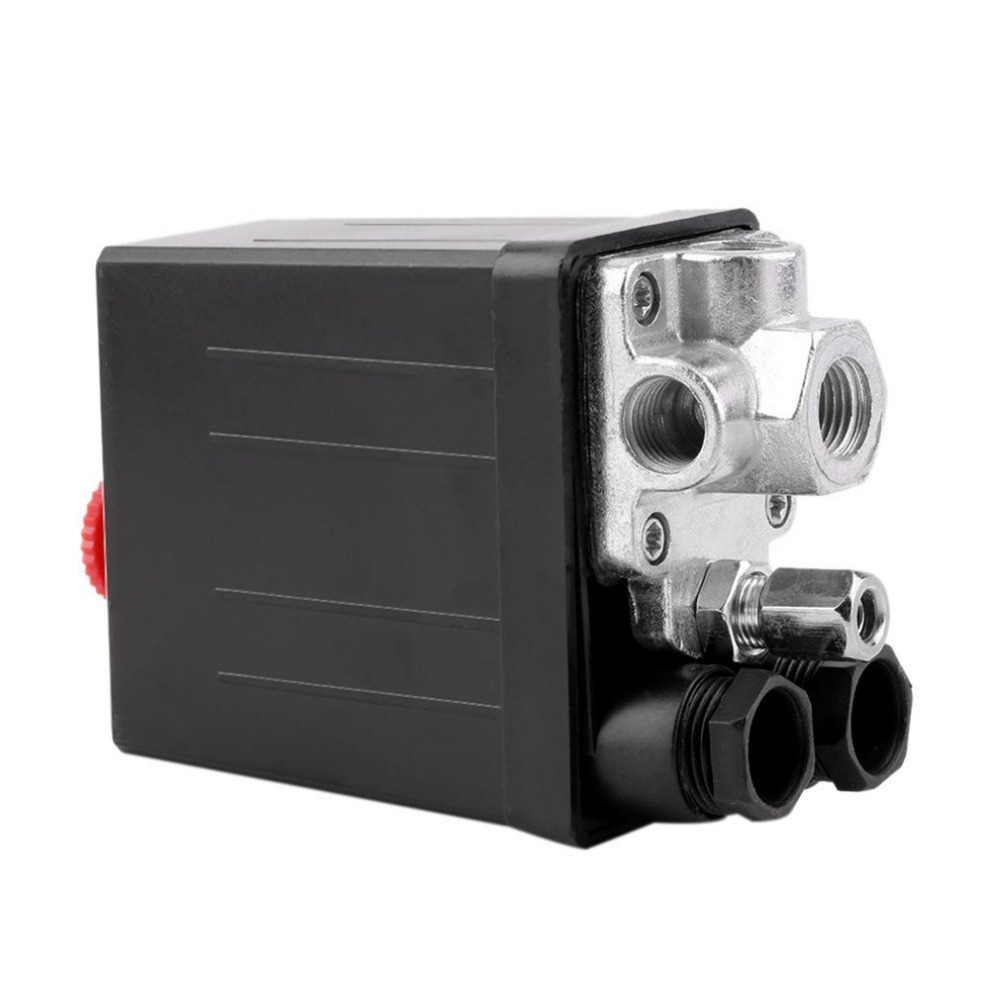 OUTAD New Heavy Duty Pressure Switch 240V 16A Auto Control Load/Unload Air Compressor Control Valve 90 PSI -120 PSI heavy duty air compressor pressure control switch valve 90 120psi 12 bar 20a ac220v 4 port 12 5 x 8 x 5cm promotion price