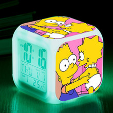 The Simpsons Digital Alarm Clock Kids Bedoom