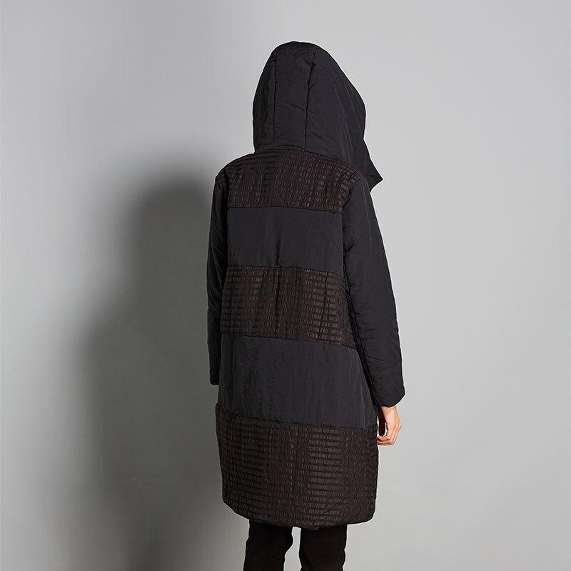 Costume Femmes Long Hiver En Et Coton De Nouvelle Originale Avec Chaud Grande Noir Art Taille À 2018 Manteaux Ceciliayu Capuchon Littéraire bg7vYf6y