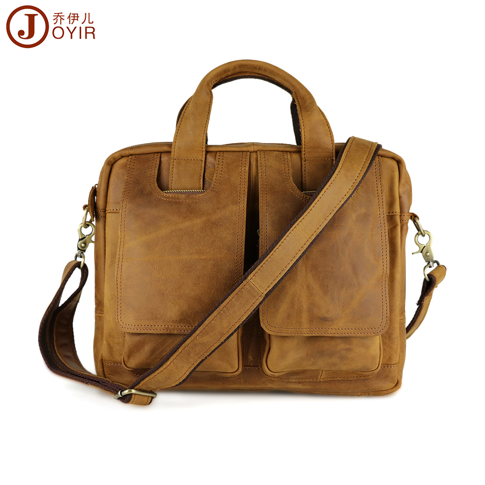 JOYIR 2016 New Arrival Genuine leather men bags Leather Men Briefcase Laptop font b Handbag b