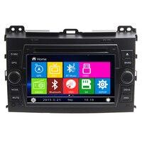 7 inch Car DVD Player GPS Navigation Hệ Thống cho Toyota Land Cruiser Prado 120 2002 2003 2004 2005 2006 2007 2008 2009 Đài Phát Thanh RDS
